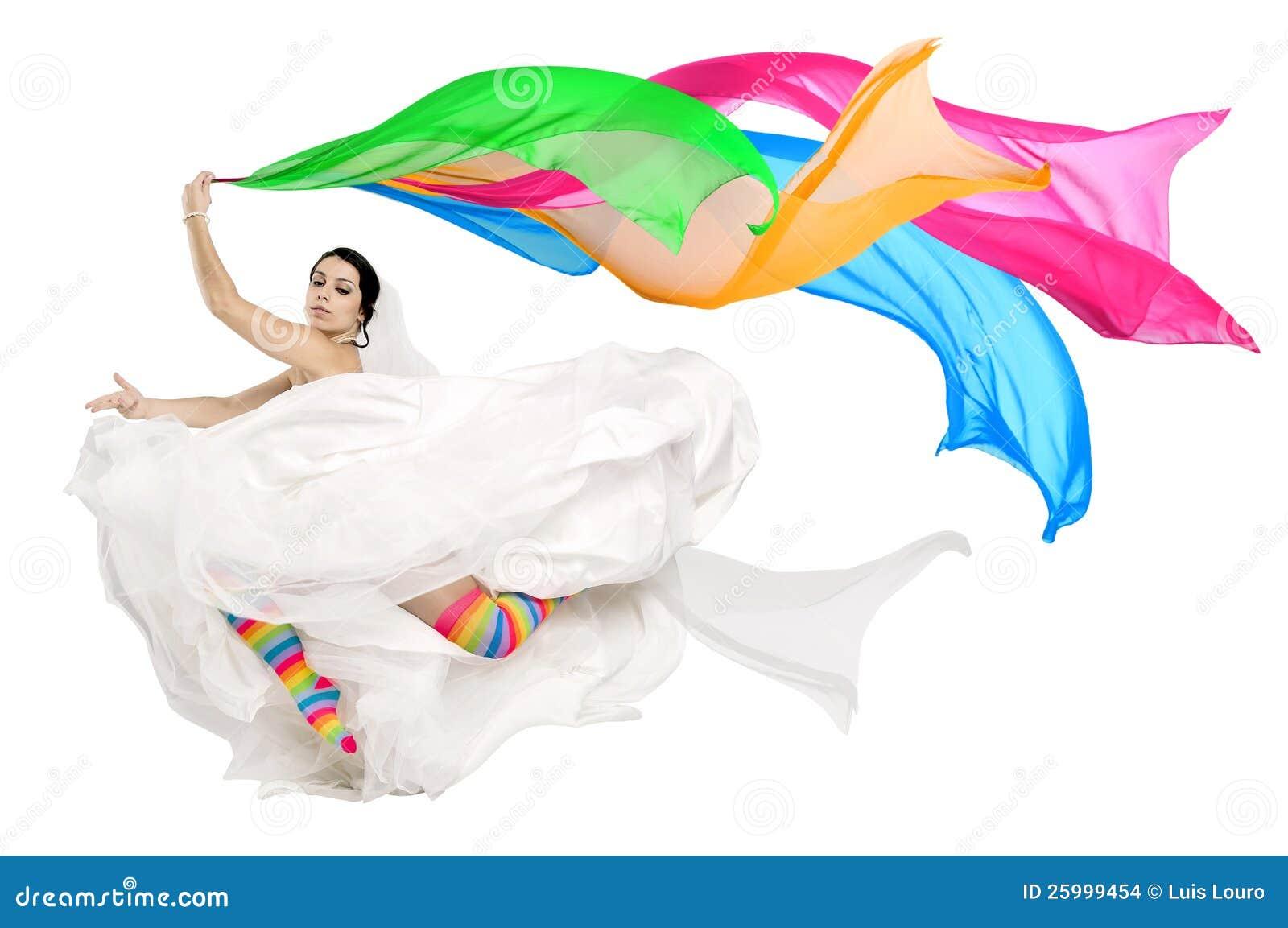 Happy fun bride