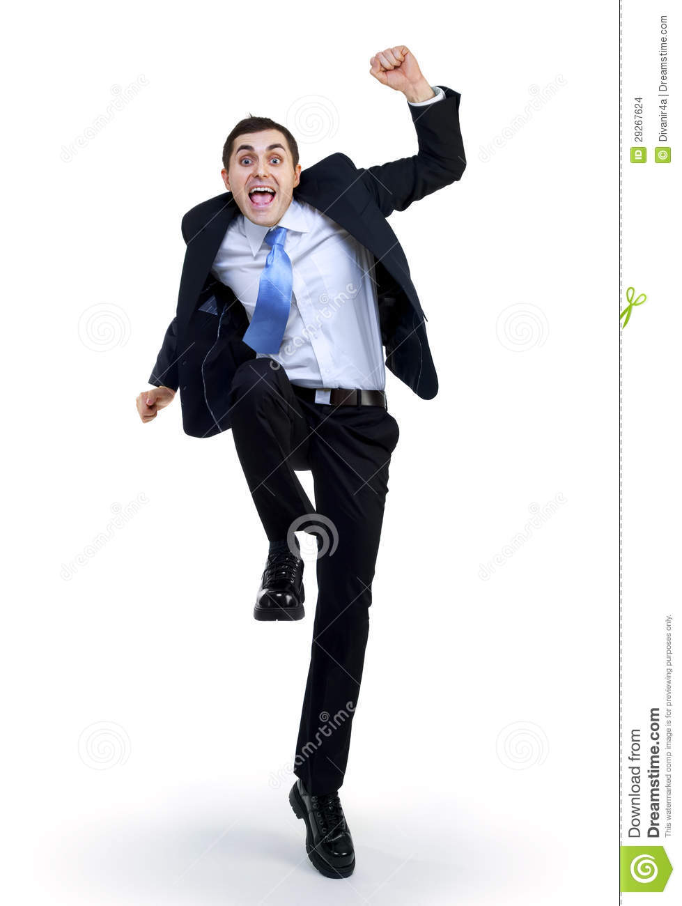 Happy funny businessman