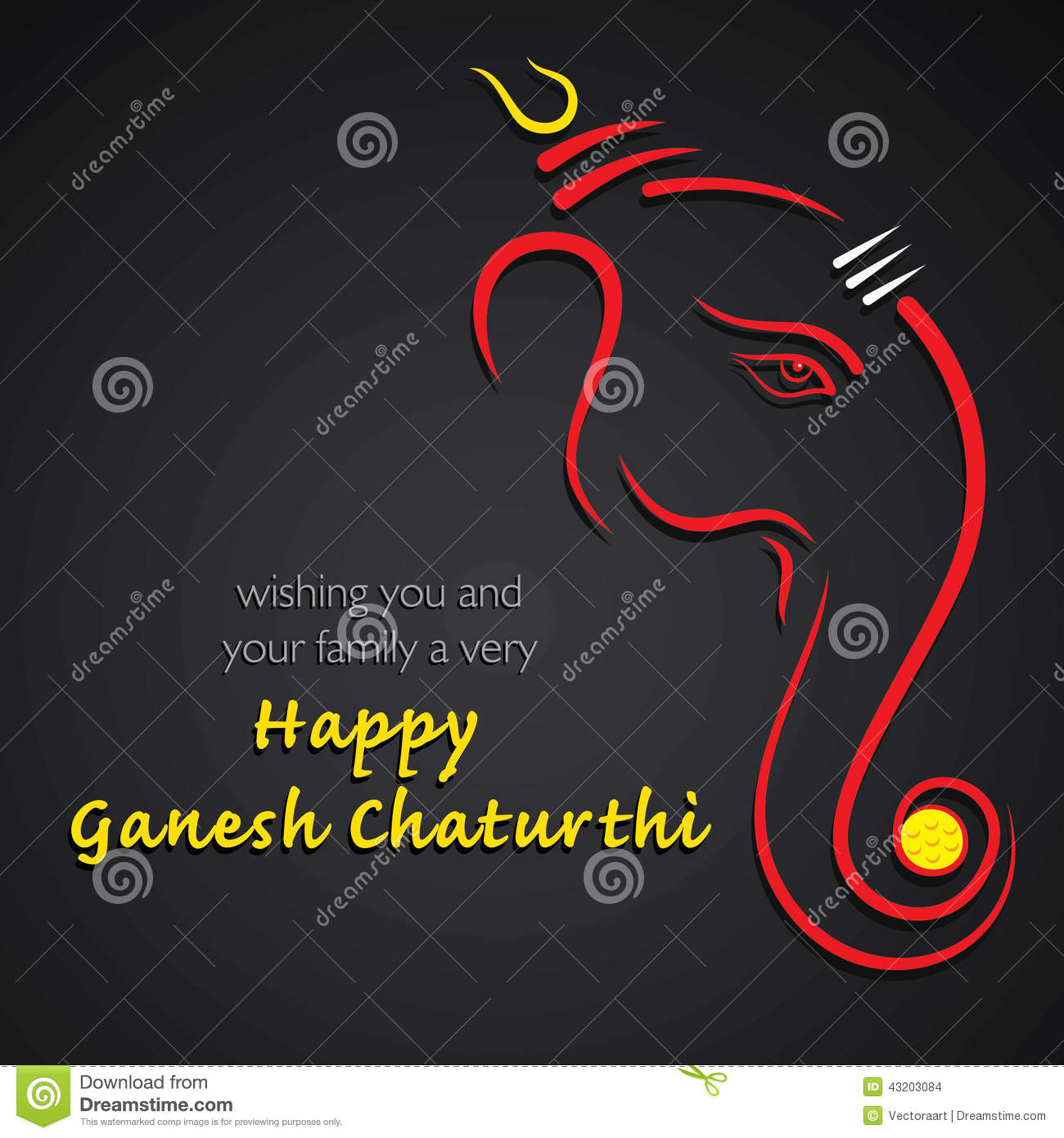 Happy ganesh chaturthi festival greeting card stock vector download comp m4hsunfo