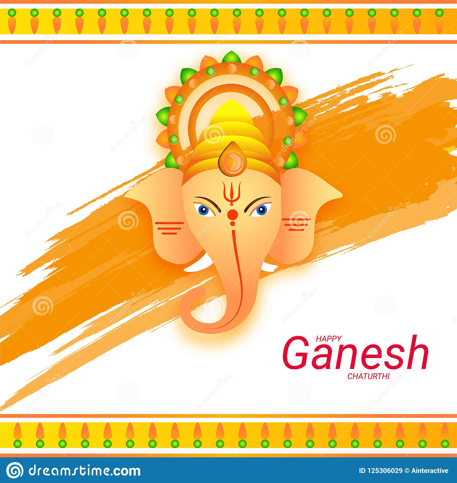 Happy ganesh chaturthi greeting card design with lord ganesha fa download happy ganesh chaturthi greeting card design with lord ganesha fa stock illustration illustration of m4hsunfo