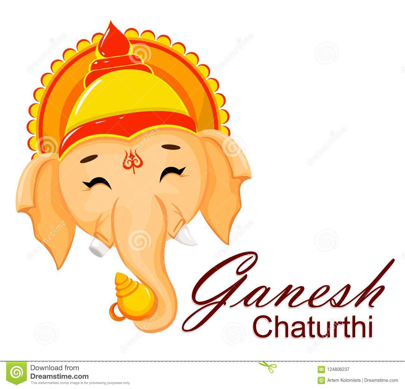 Happy ganesh chaturthi greeting card stock vector illustration of download happy ganesh chaturthi greeting card stock vector illustration of blessing illustration 124806237 m4hsunfo