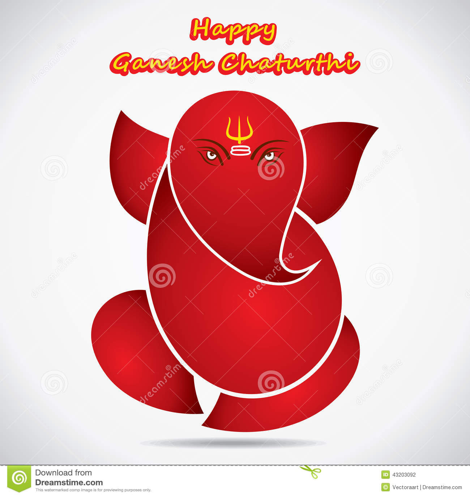 Happy ganesh chaturthi sketch greeting card design stock vector download comp m4hsunfo