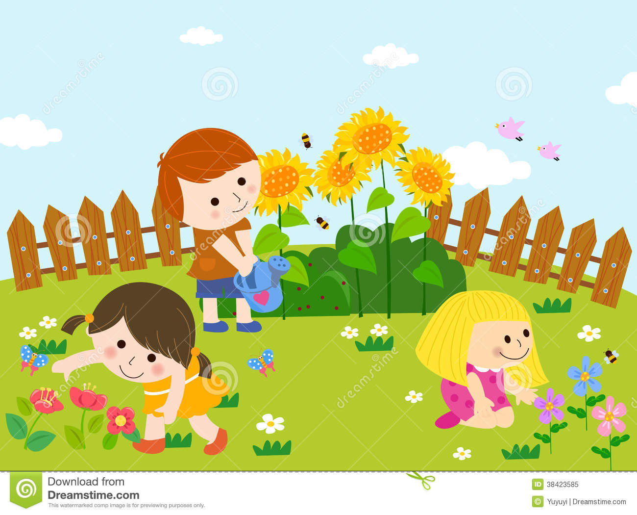 Happy garden royalty free stock photo image 38423585 for Jardin feliz