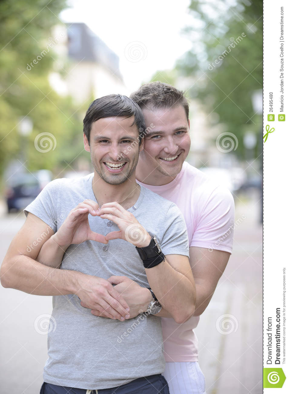 Happy Gay Couple Outdoors Stock Photo Image 26495480
