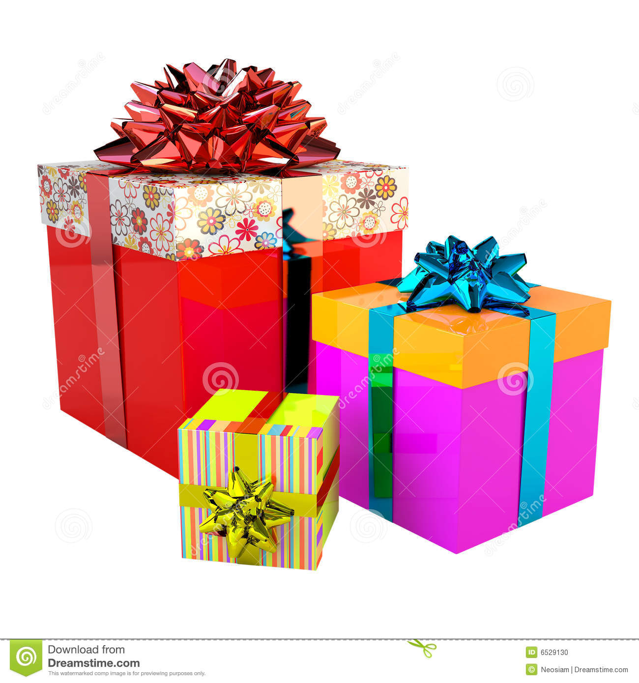 Happy Gift Boxes set stock illustration. Illustration of ...