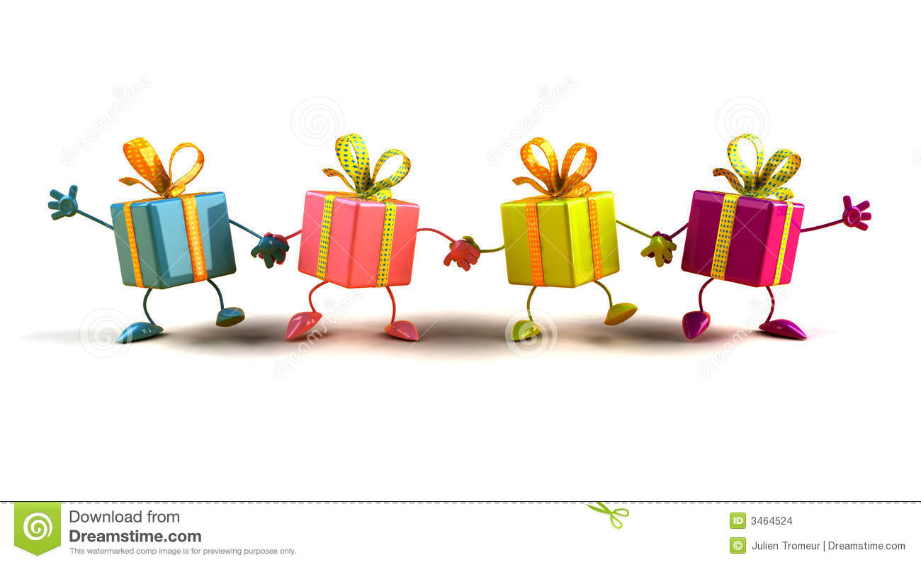 Happy Gifts Stock Images - Image: 3464524