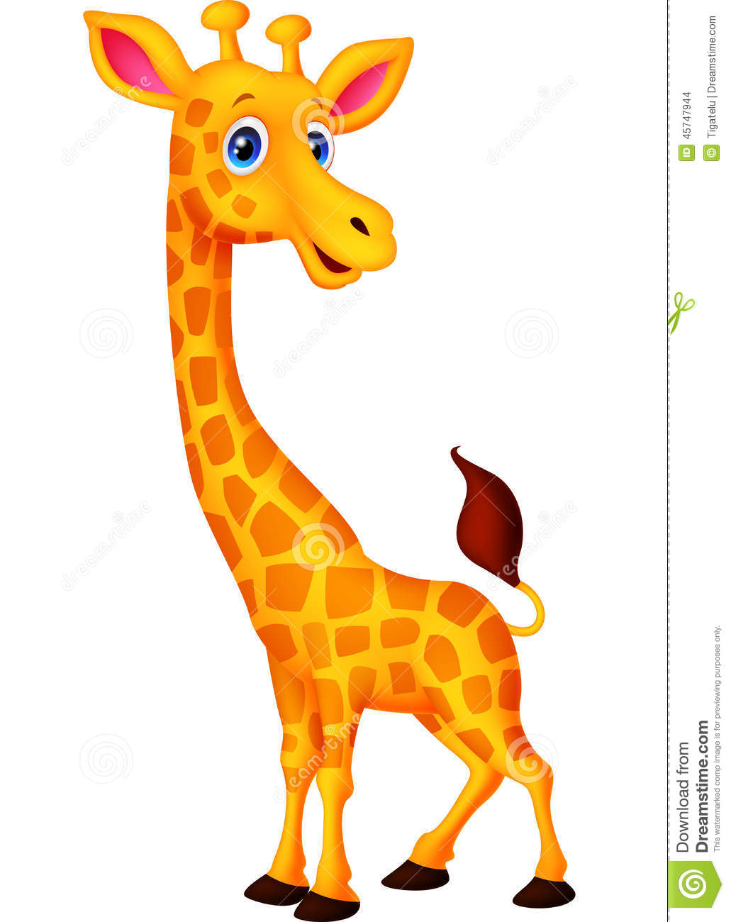 Happy Giraffe Cartoon Stock Vector - Image: 45747944