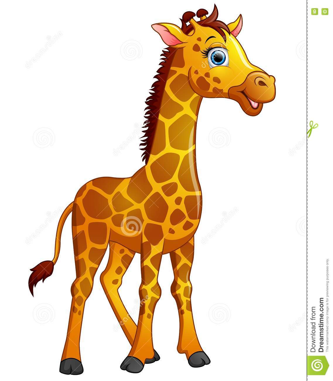 happy giraffe cartoon isolated on white background stock clipart jungle animal masks clip art jungle animals in color