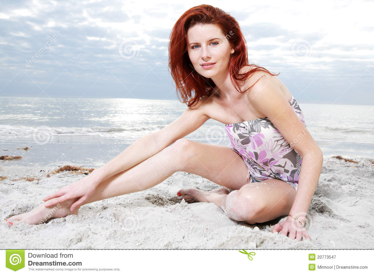 23af76a03c6 Happy Girl Enjoys Sunny Day At The Beach. Stock Image - Image of ...