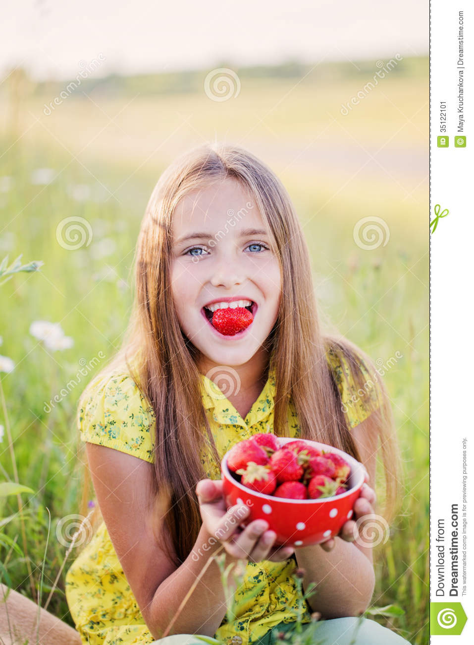 Happy Girl Outdoor Stock Image Image 35122101