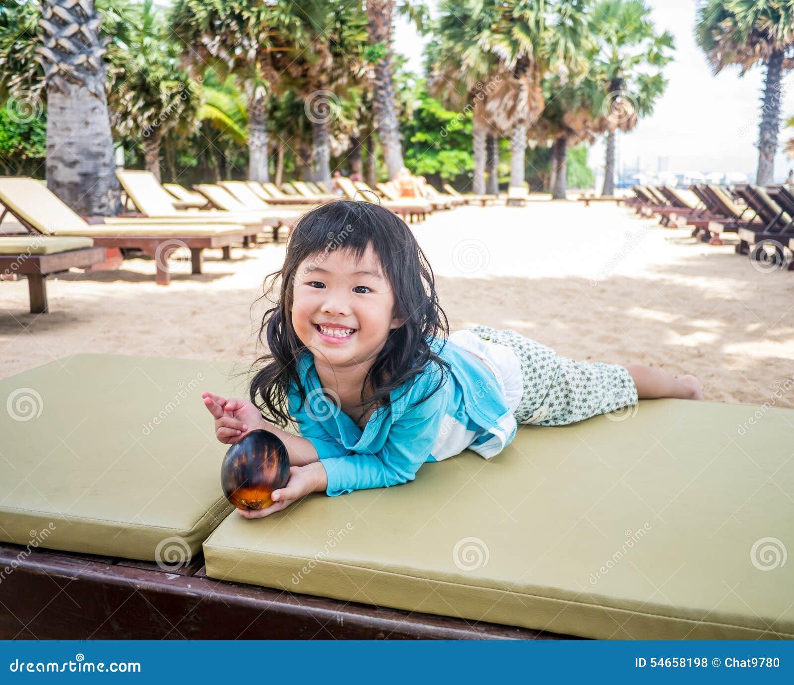 Happy Beautiful Woman Enjoying At Beach Stock Photo: Happy Girl Traveling To The Beach Stock Photo