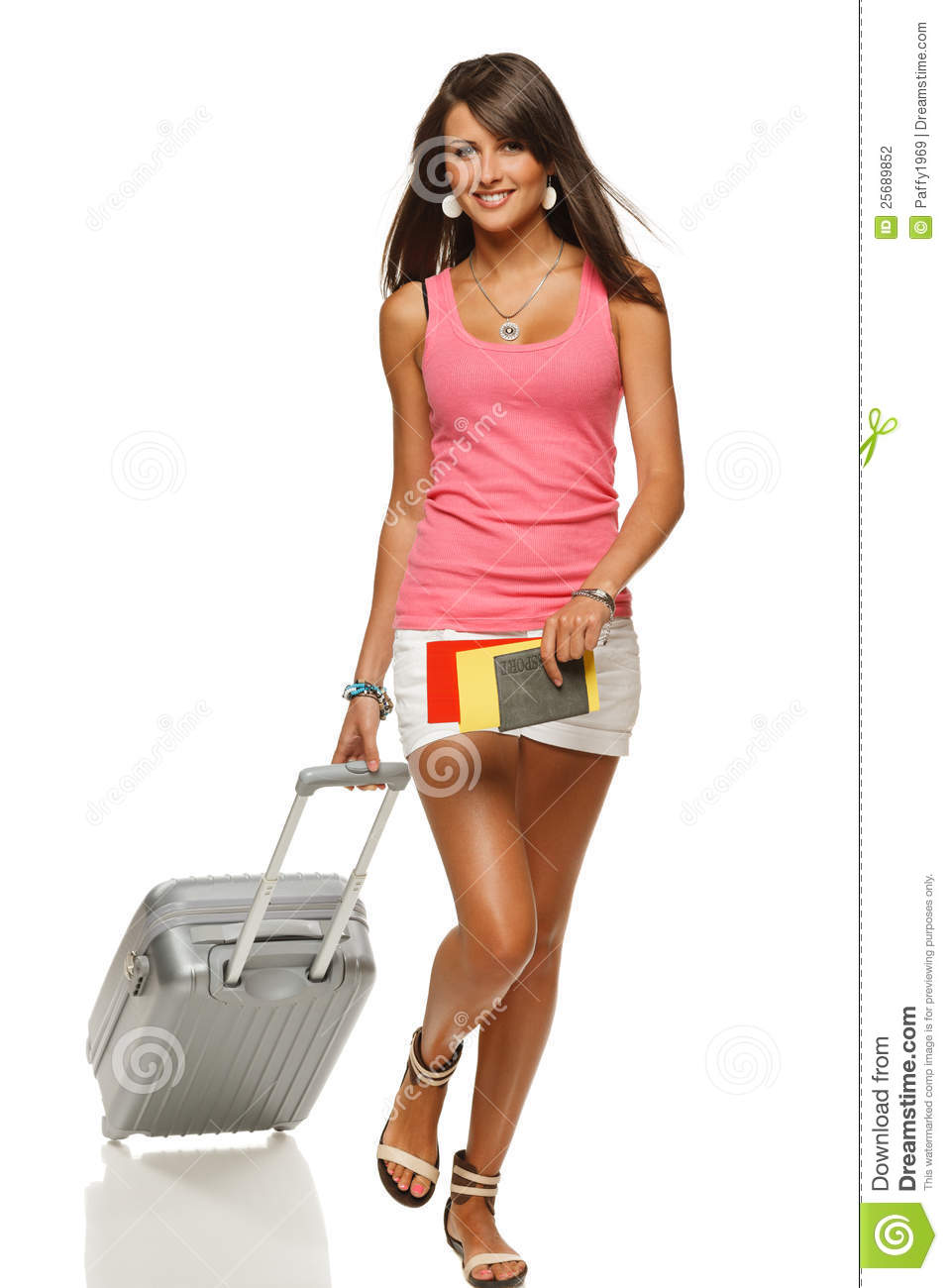 Shoes online. Girls travel luggage