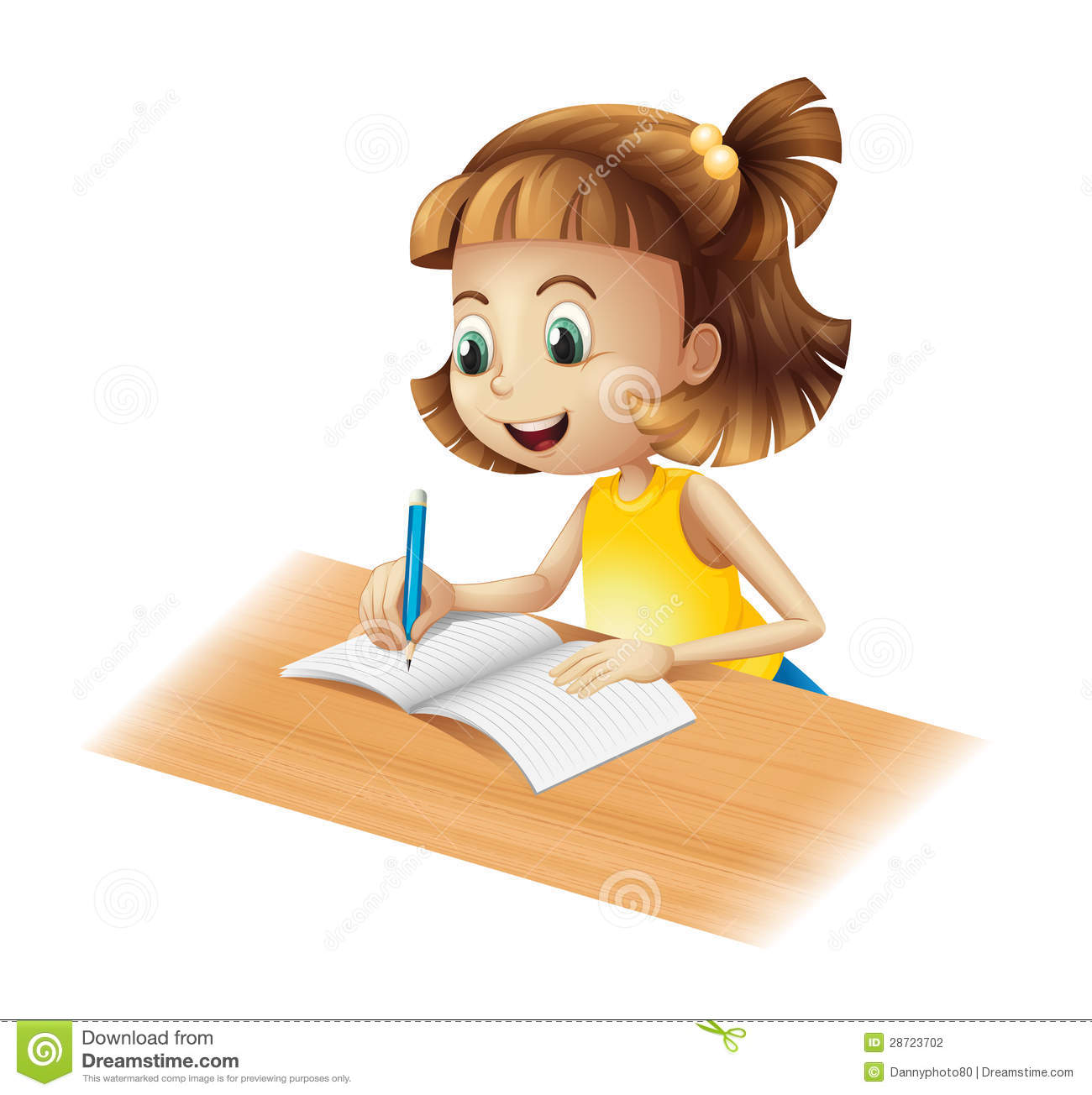Stock Photography Happy Girl Writing Image28723702 on on studying laptop cartoon