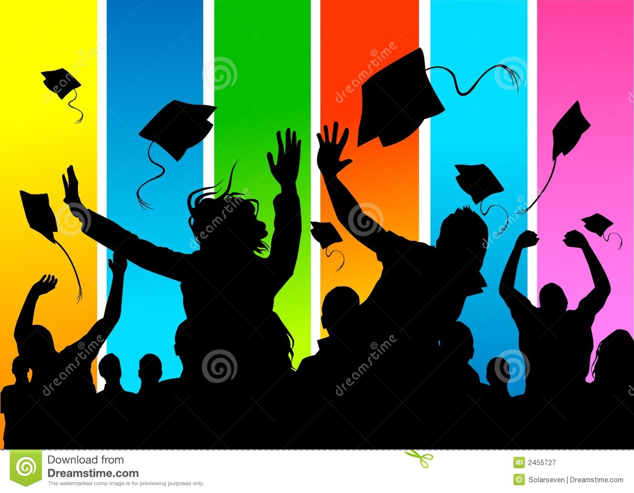 Happy Graduate Students Royalty Free Stock Photography