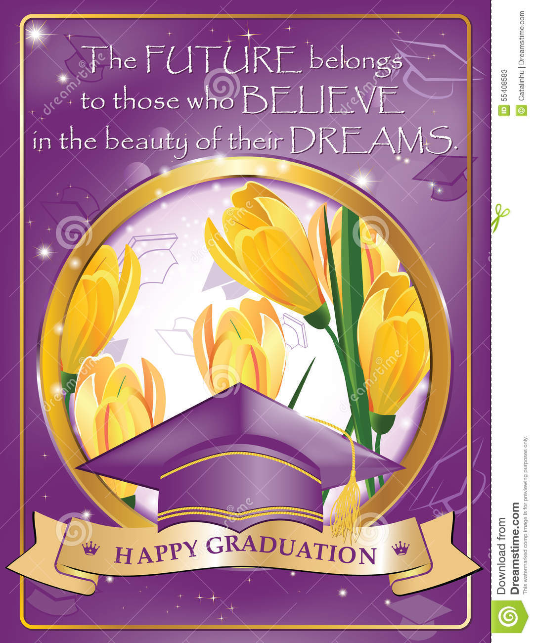 happy graduation greeting card also for print stock