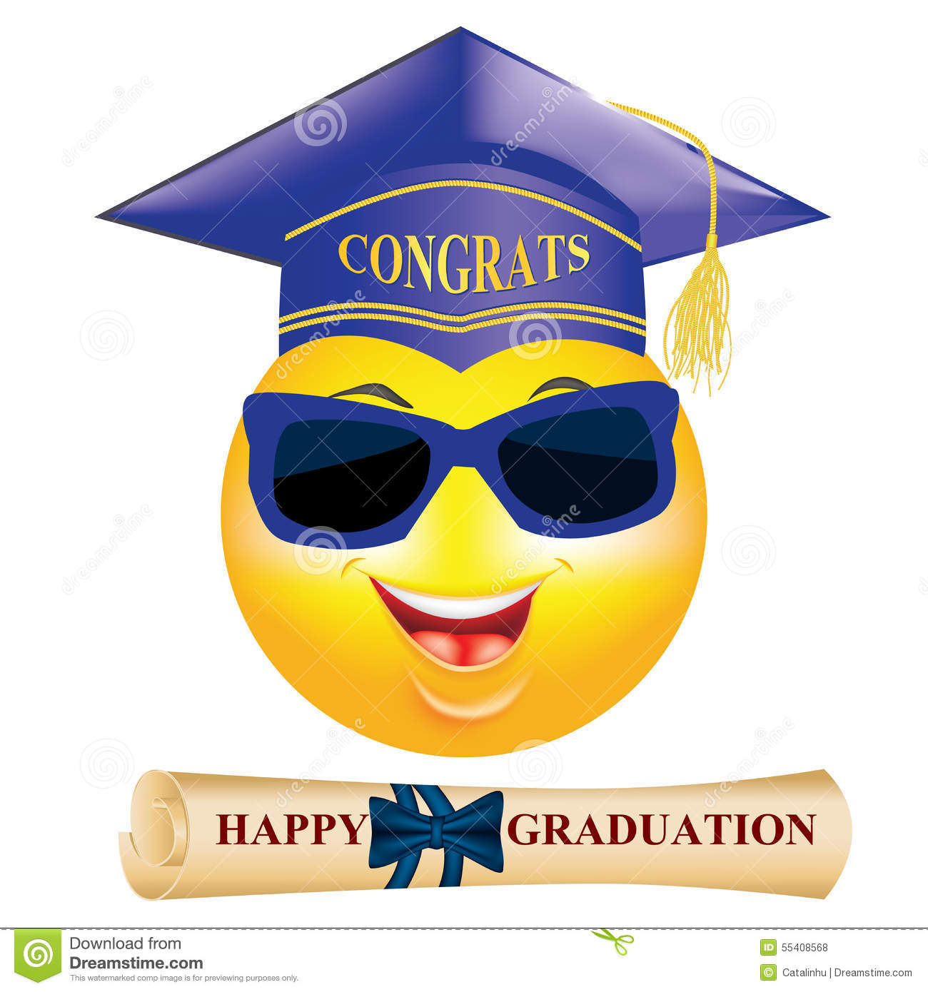 Happy Graduation Greeting Card For Print. Royalty-Free ...