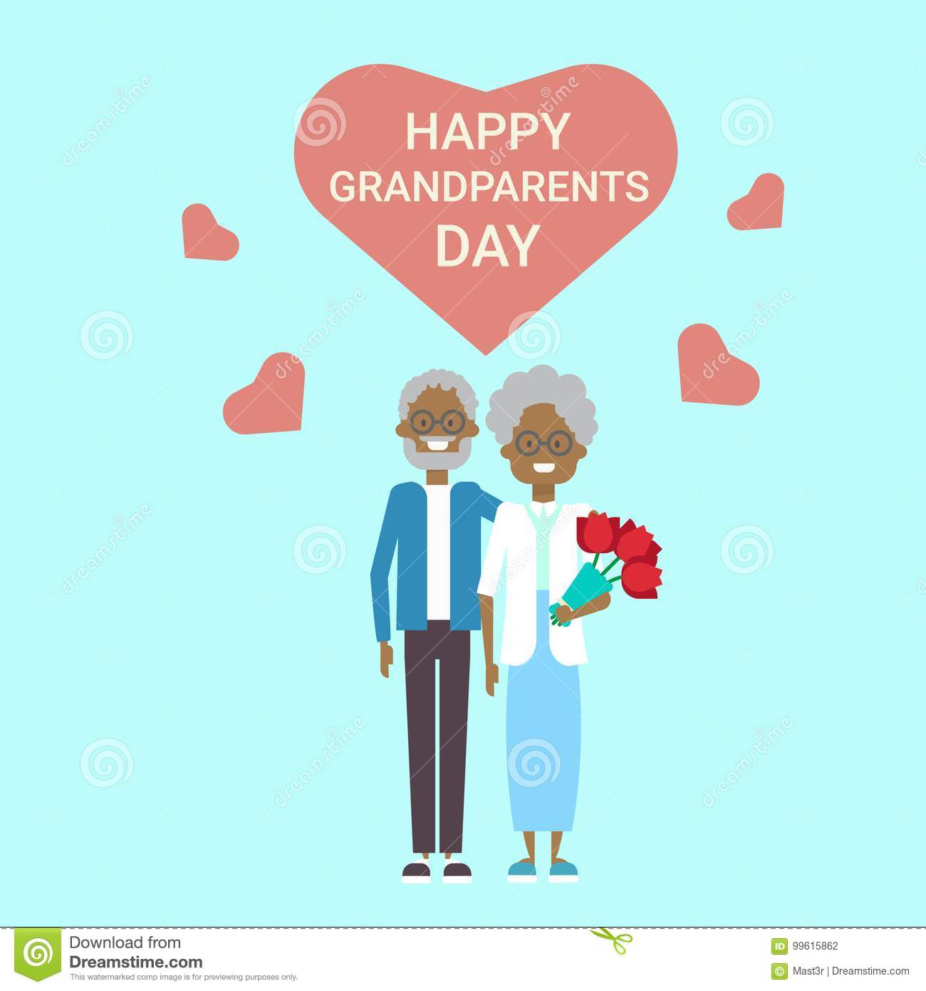 Happy grandparents day greeting card holiday banner african royalty free vector download happy grandparents day greeting card holiday banner african american kristyandbryce Images