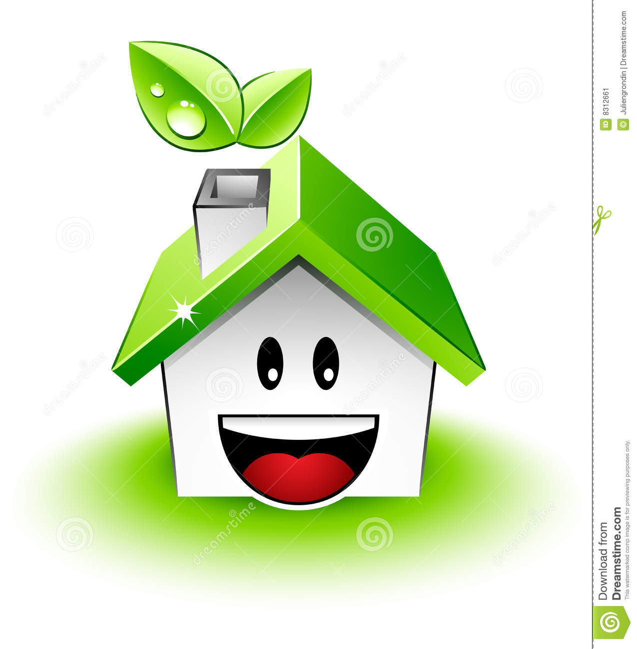Happy Green House Stock Vector  Image Of Design  Home