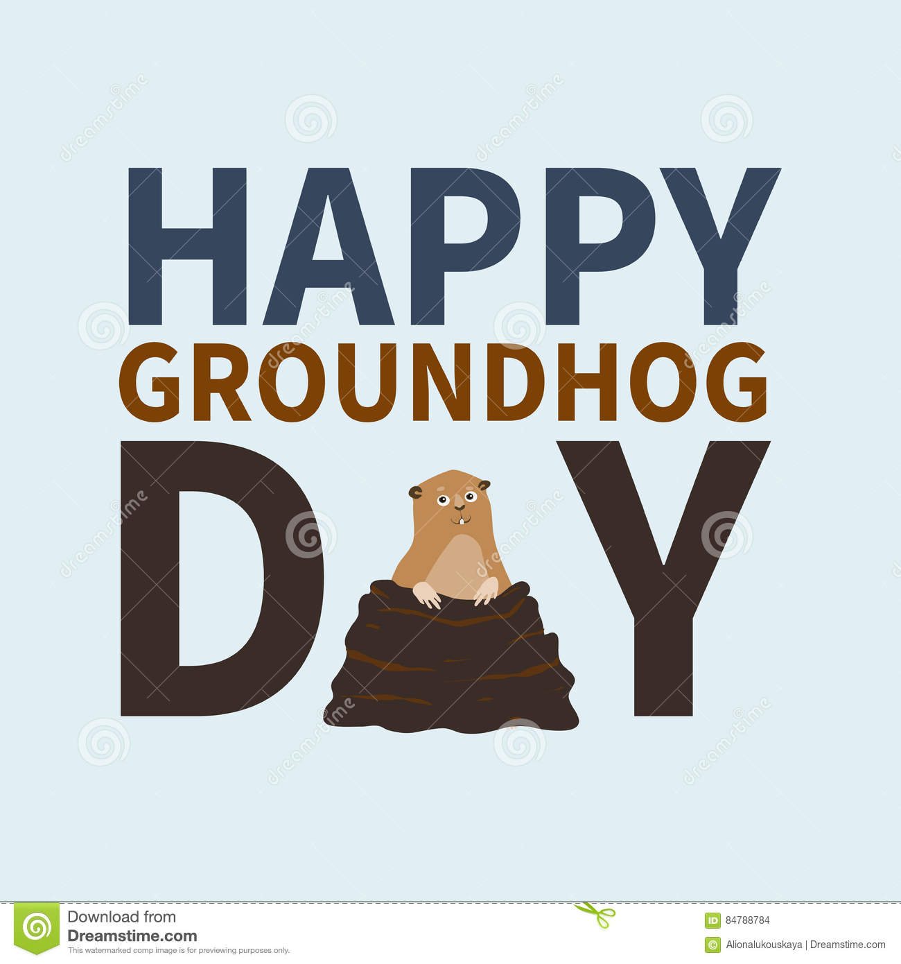 Happy groundhog daylogo iconcute happy marmot emerged from happy groundhog daylogo iconcute happy marmot emerged from burrowsperfect for greeting cardsinvitations postersprints on t shirt wish text m4hsunfo