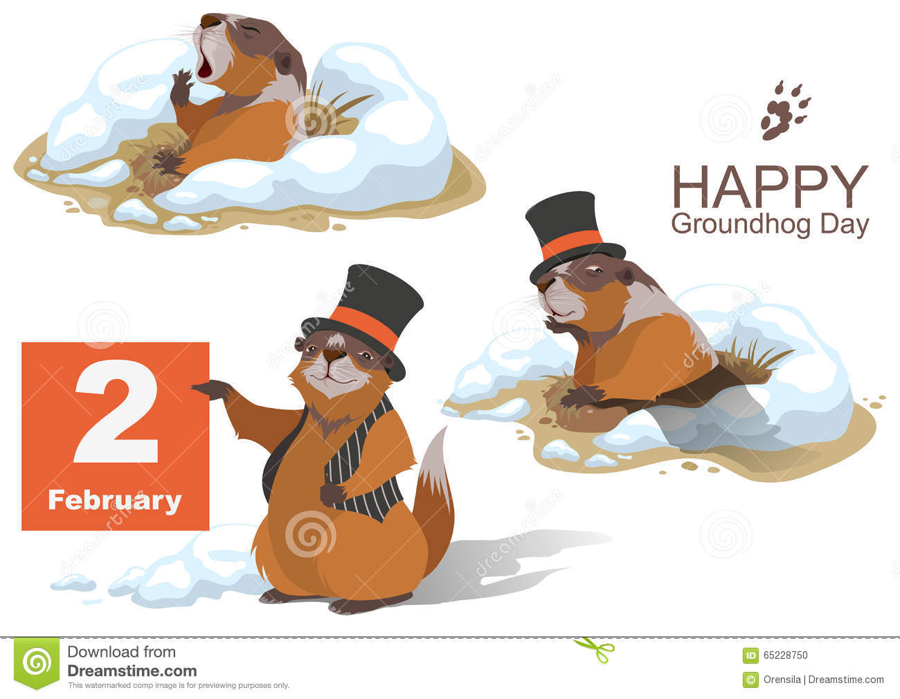 frye shoes groundhogs day 2018 clipart non-vector
