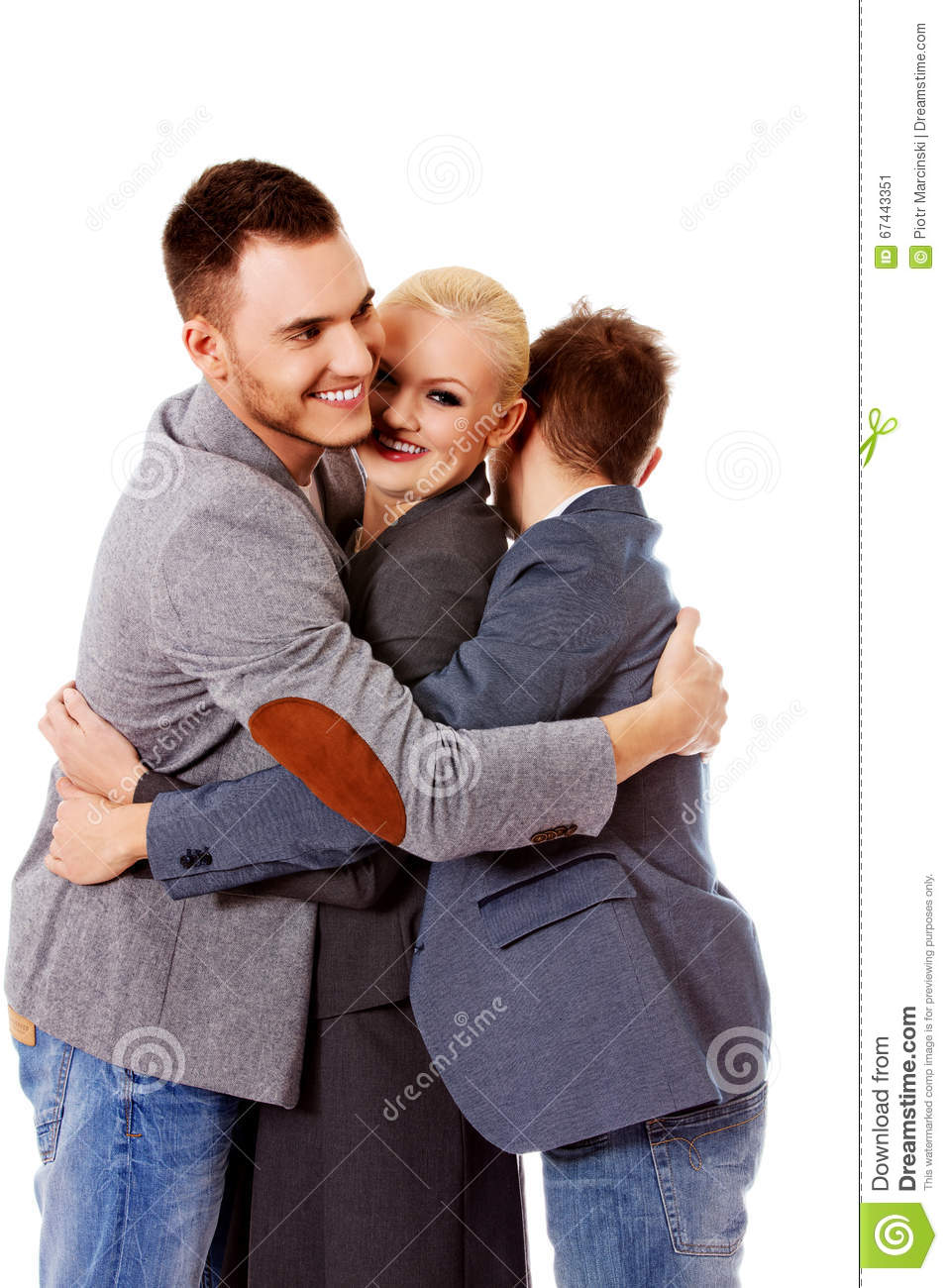 hugging three happy friendship preview