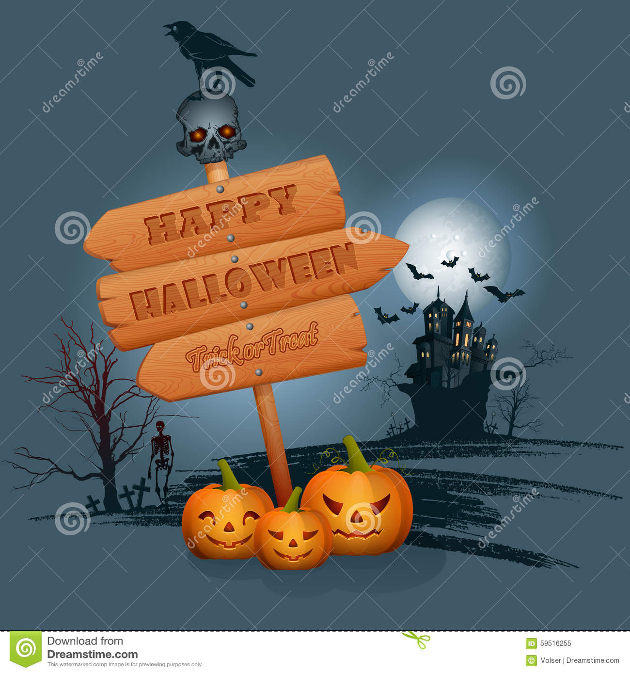 halloween celebration background with flying