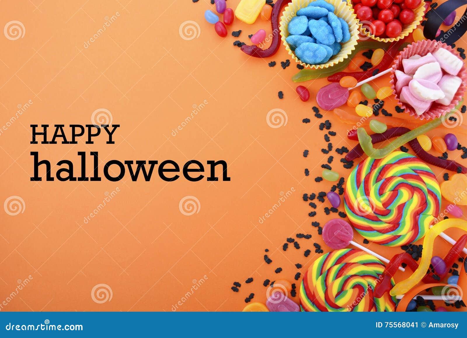 happy halloween candy background stock image image 75568041
