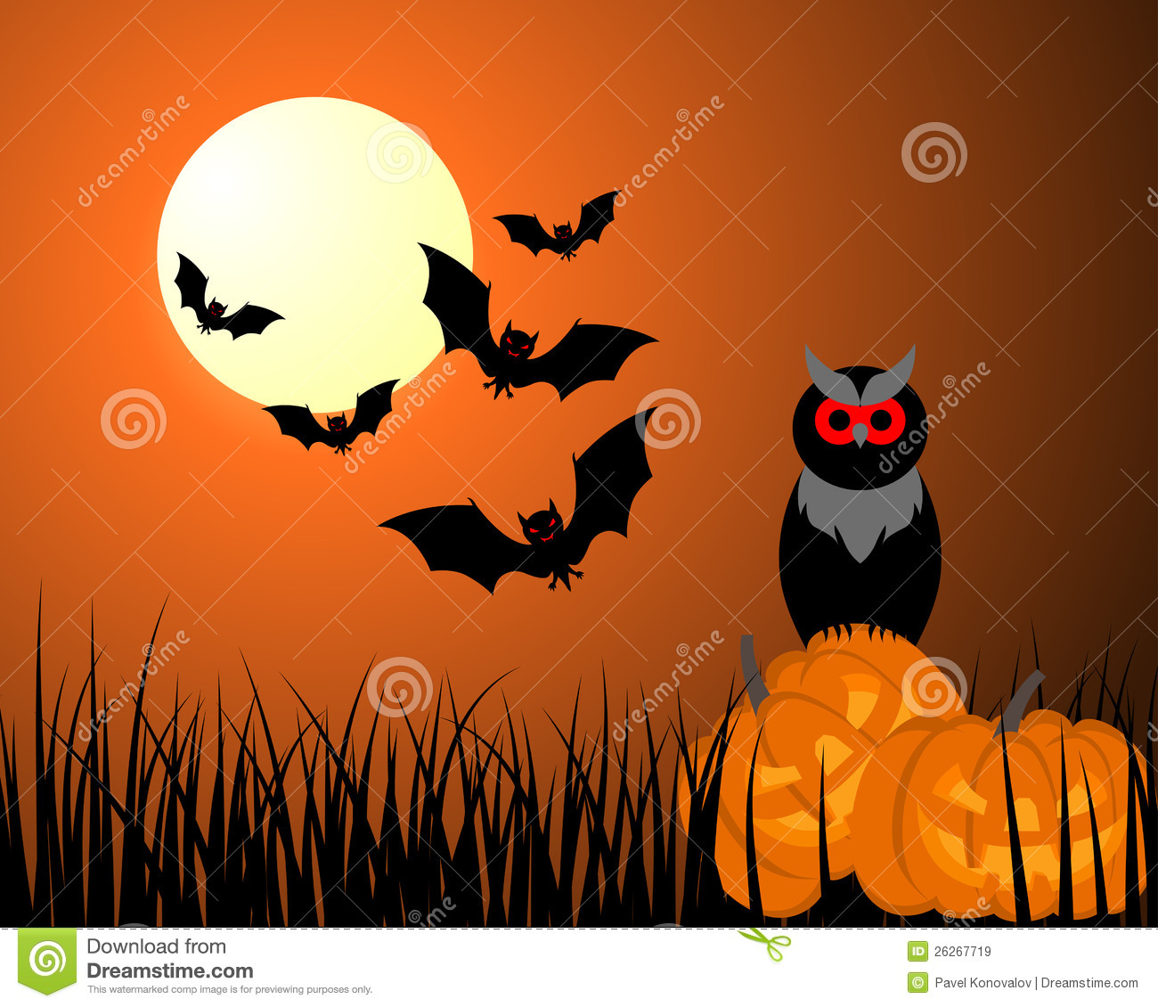 Happy Halloween Card Royalty Free Stock ImagesImage26267719