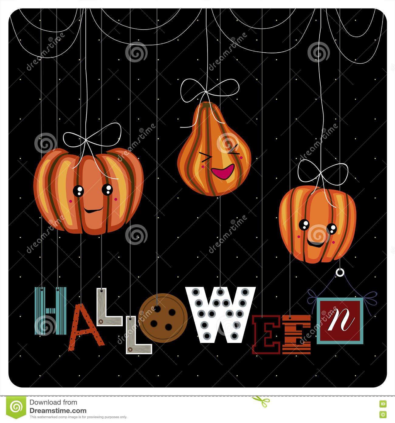 happy halloween cover design stock image - image of happy, halloween