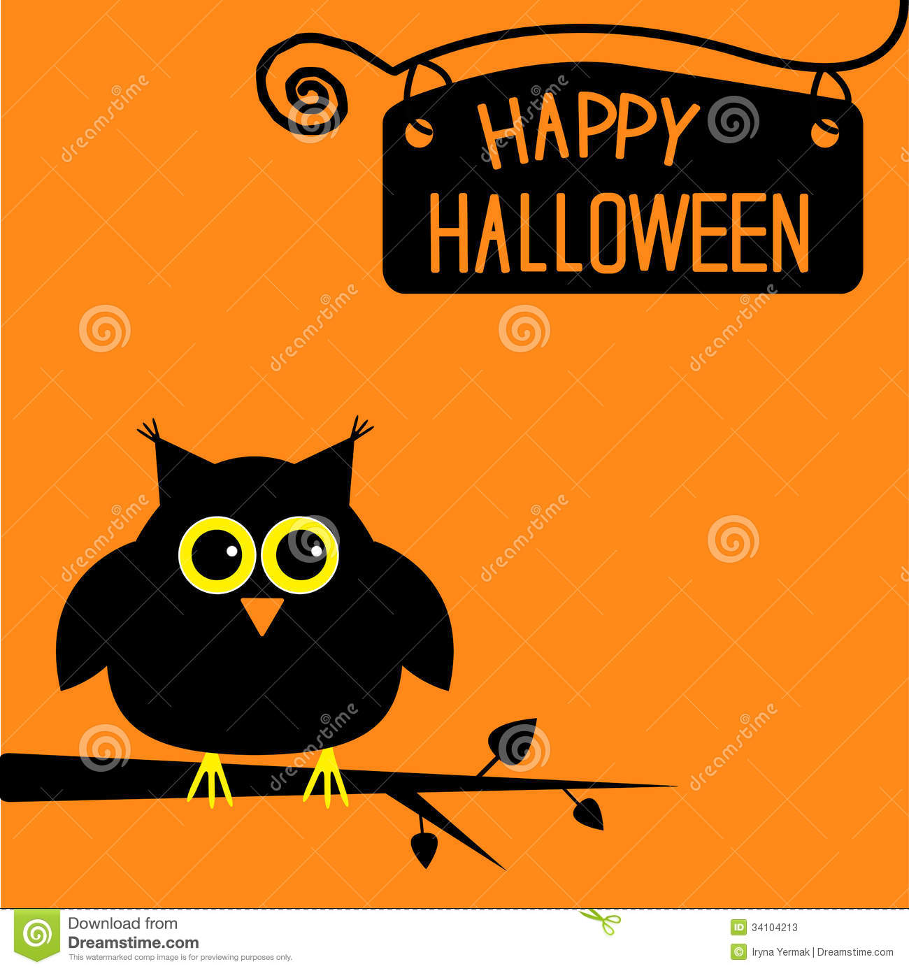 Nice Happy Halloween Cute Owl Card.