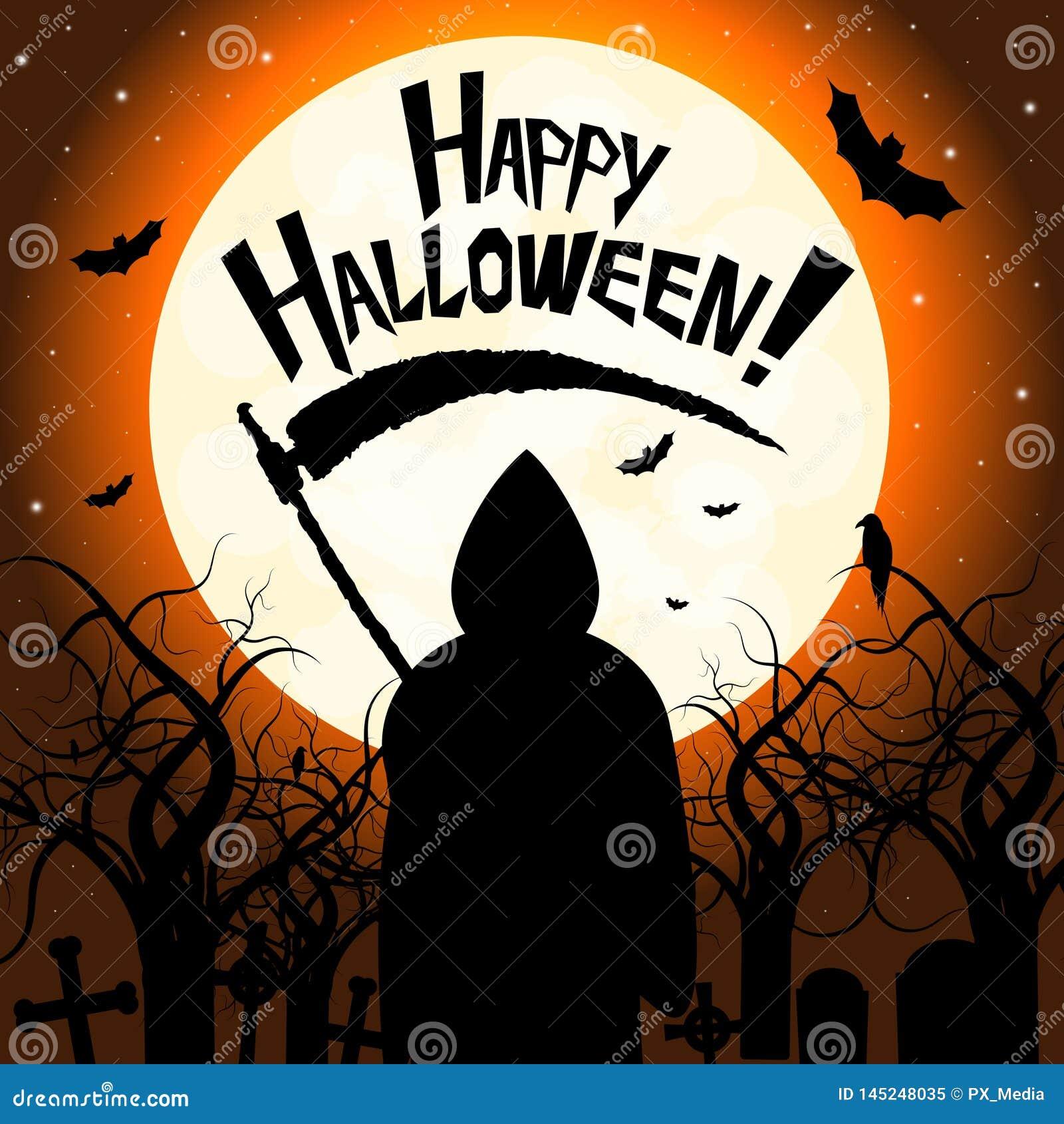Happy Halloween - death with scythe