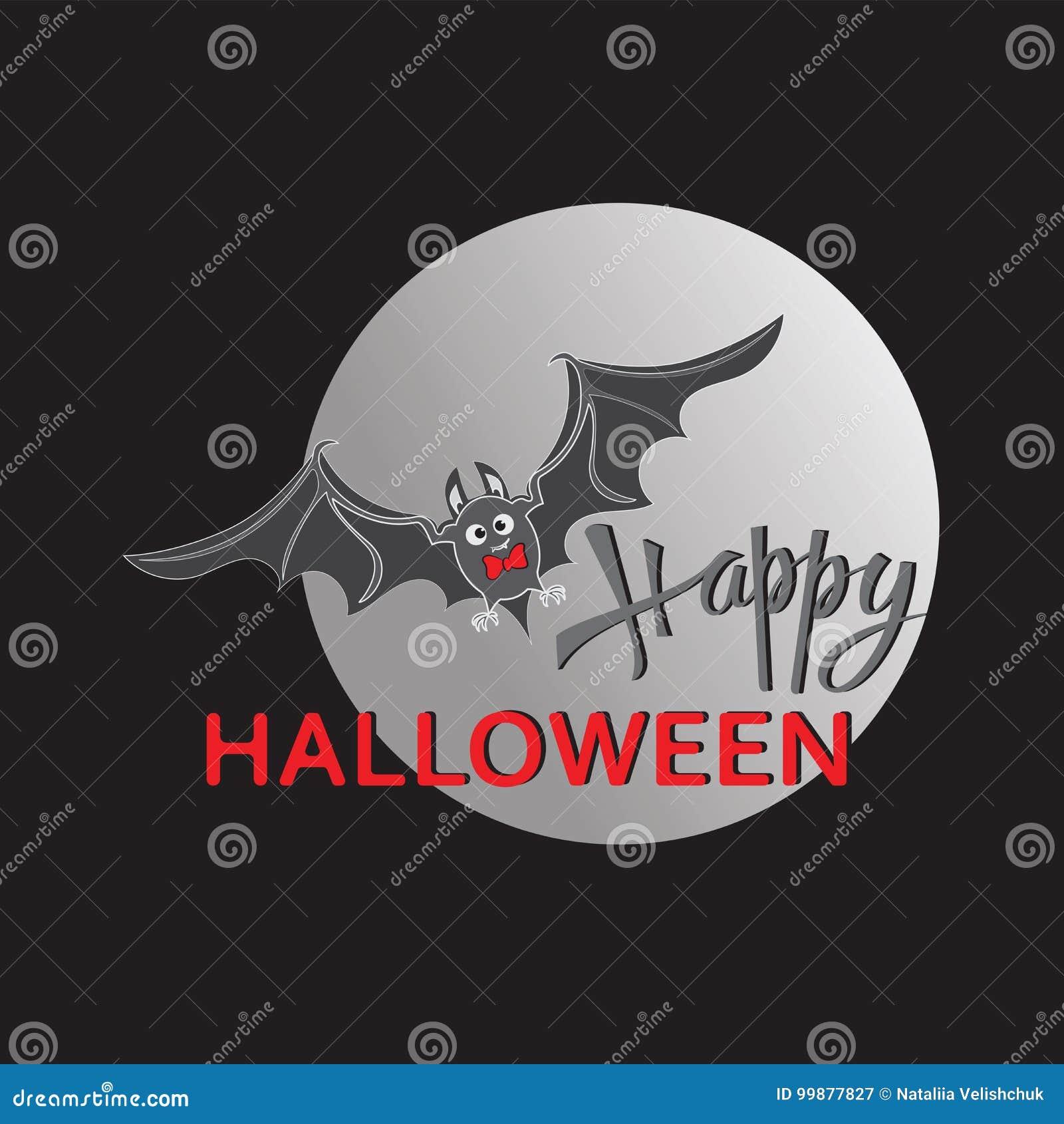 happy halloween design of the message stock vector illustration