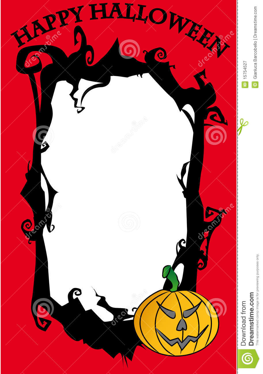 Happy halloween frame stock vector illustration of nobody 15754527 happy halloween frame jeuxipadfo Choice Image