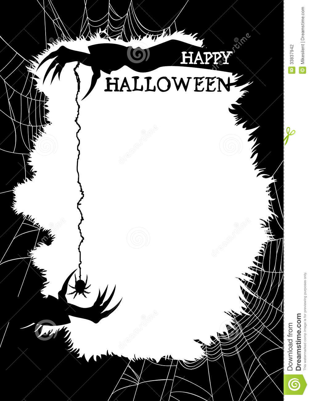 Happy Halloween Greeting Card Or Party Flyer Stock Photography ...