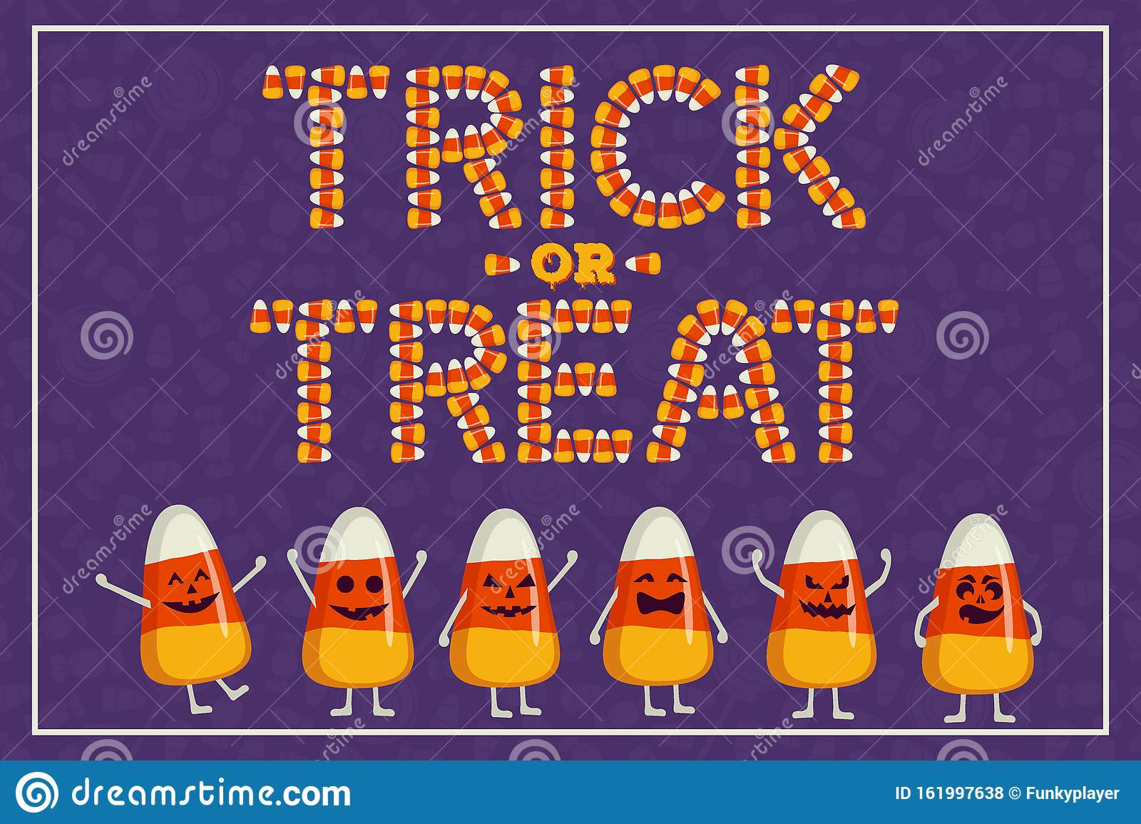happy halloween greeting card poster trick or treat