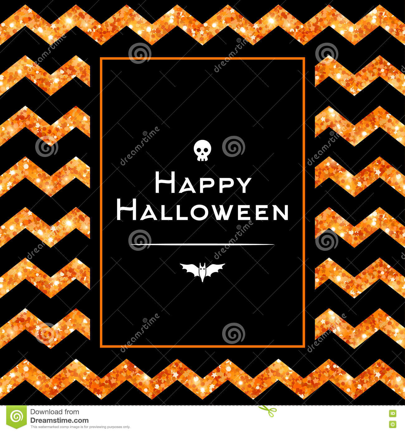 Happy halloween greeting card with square frame stock vector happy halloween greeting card with square frame kristyandbryce Images