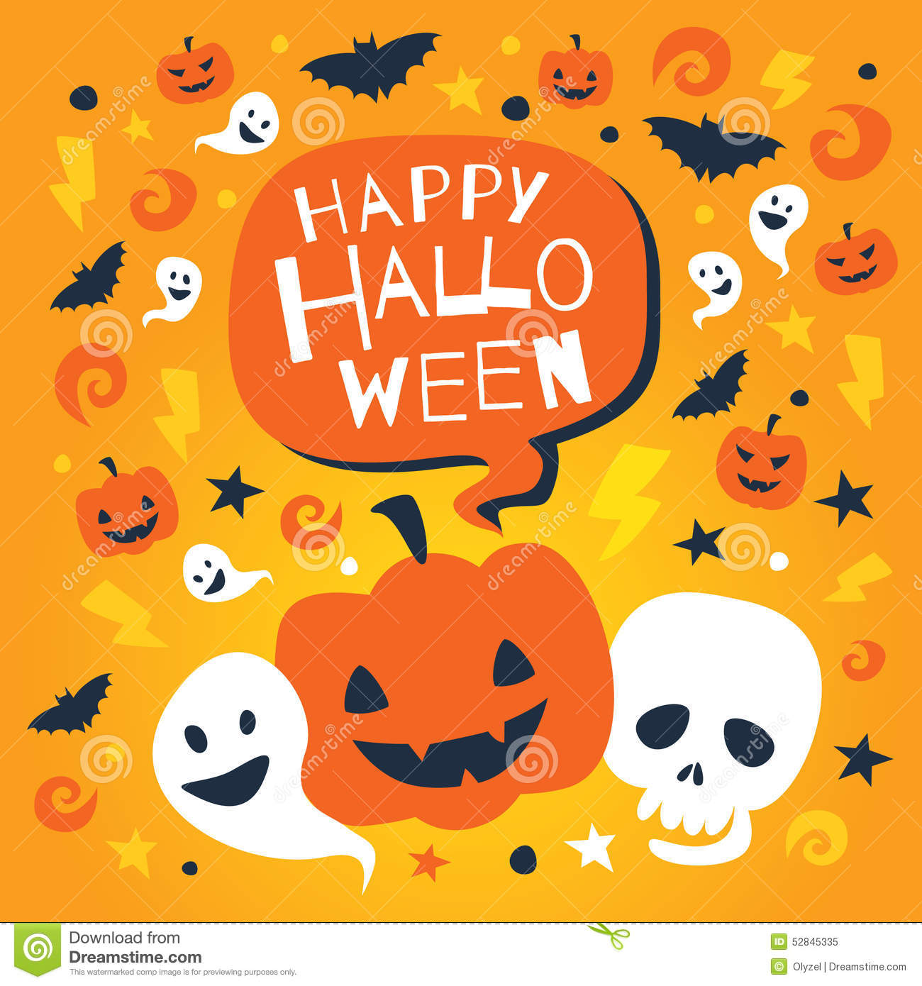 Happy halloween greeting card with traditional elements stock happy halloween greeting card with traditional elements black october kristyandbryce Images