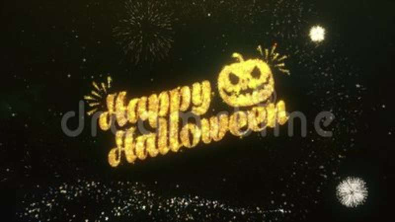 Happy halloween greeting and wishes sparklers firework stock happy halloween greeting and wishes sparklers firework stock footage video of happy holiday 118747966 m4hsunfo