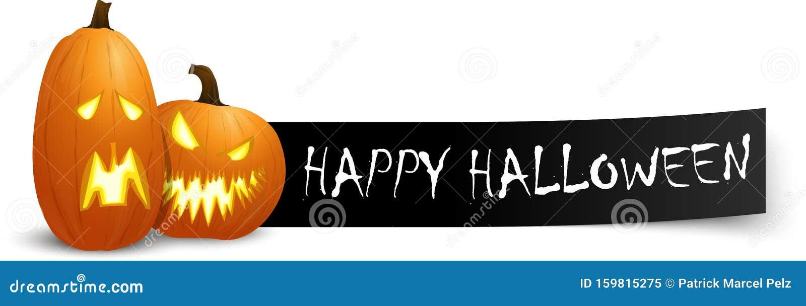 Happy Halloween Greetings With Pumpkins Stock Vector Illustration Of Darkness Halloween 159815275