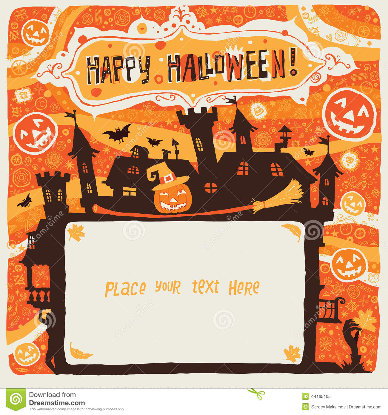 Happy Halloween. Halloween Poster, Card Or Background For Halloween ...
