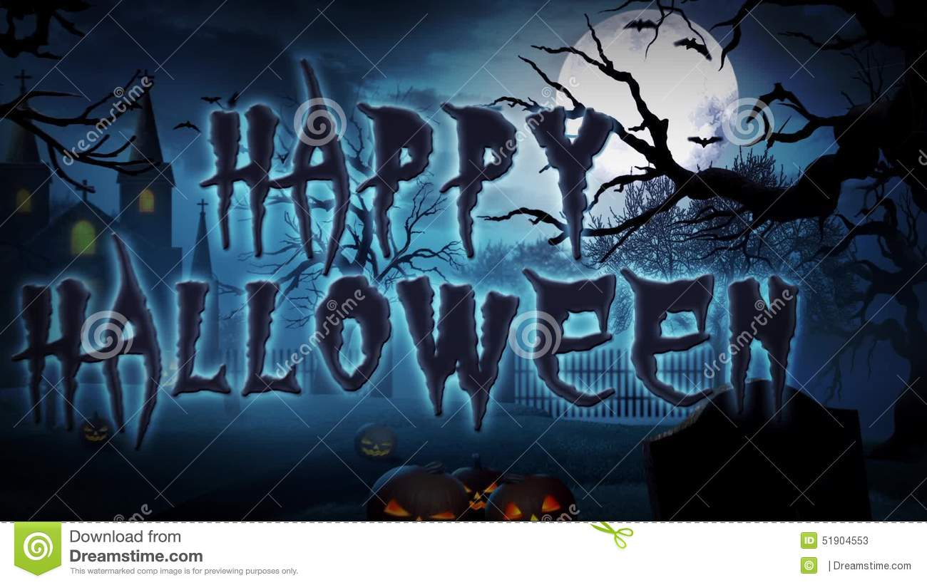 Happy Halloween Haunted Forest Stock Video   Video Of Effects, Haunted:  51904553