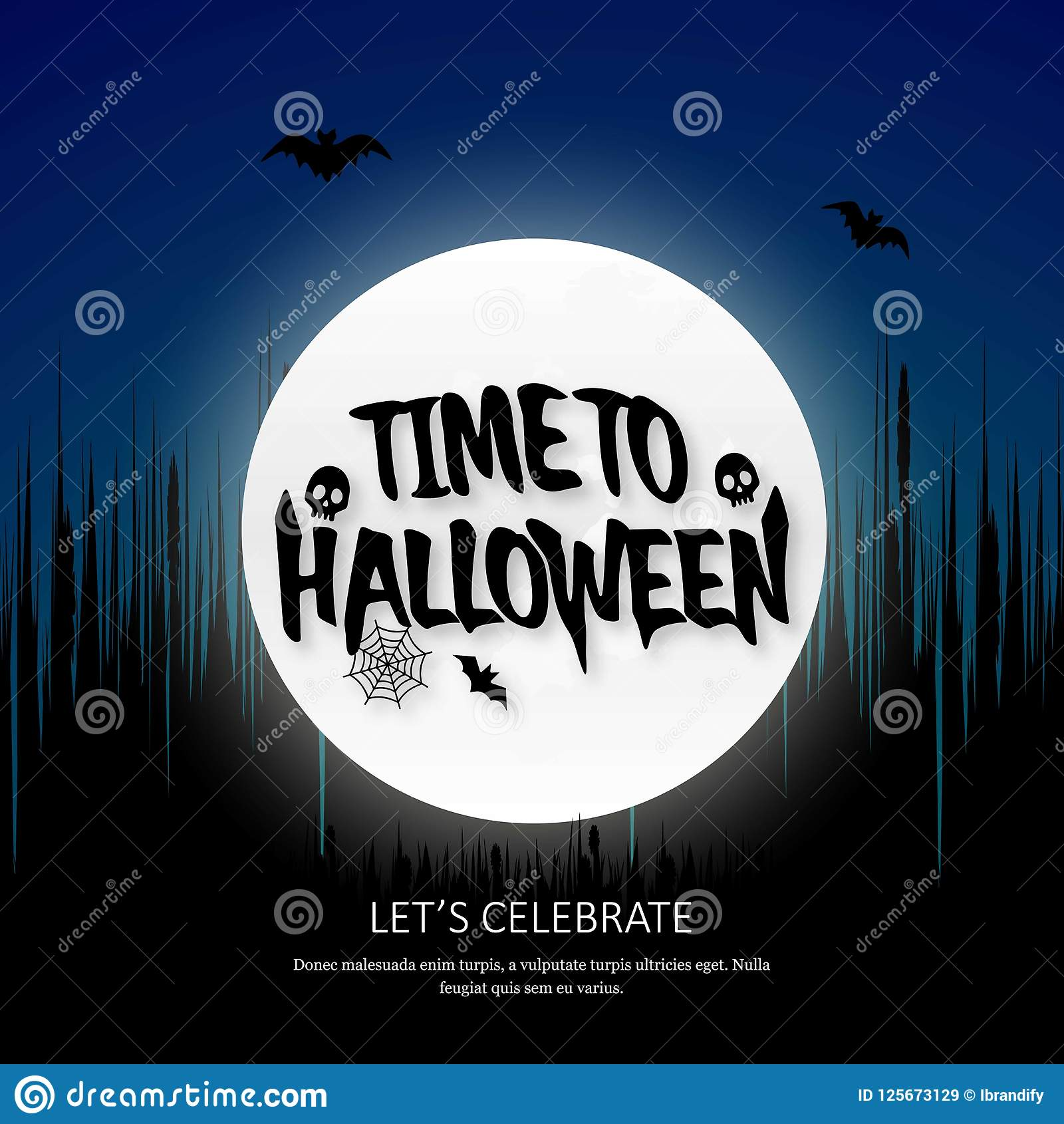 Happy Halloween invitation with creative design. This Vector EPS 10 illustration is best for print media, web design, application design user interface and Royalty Free Illustration