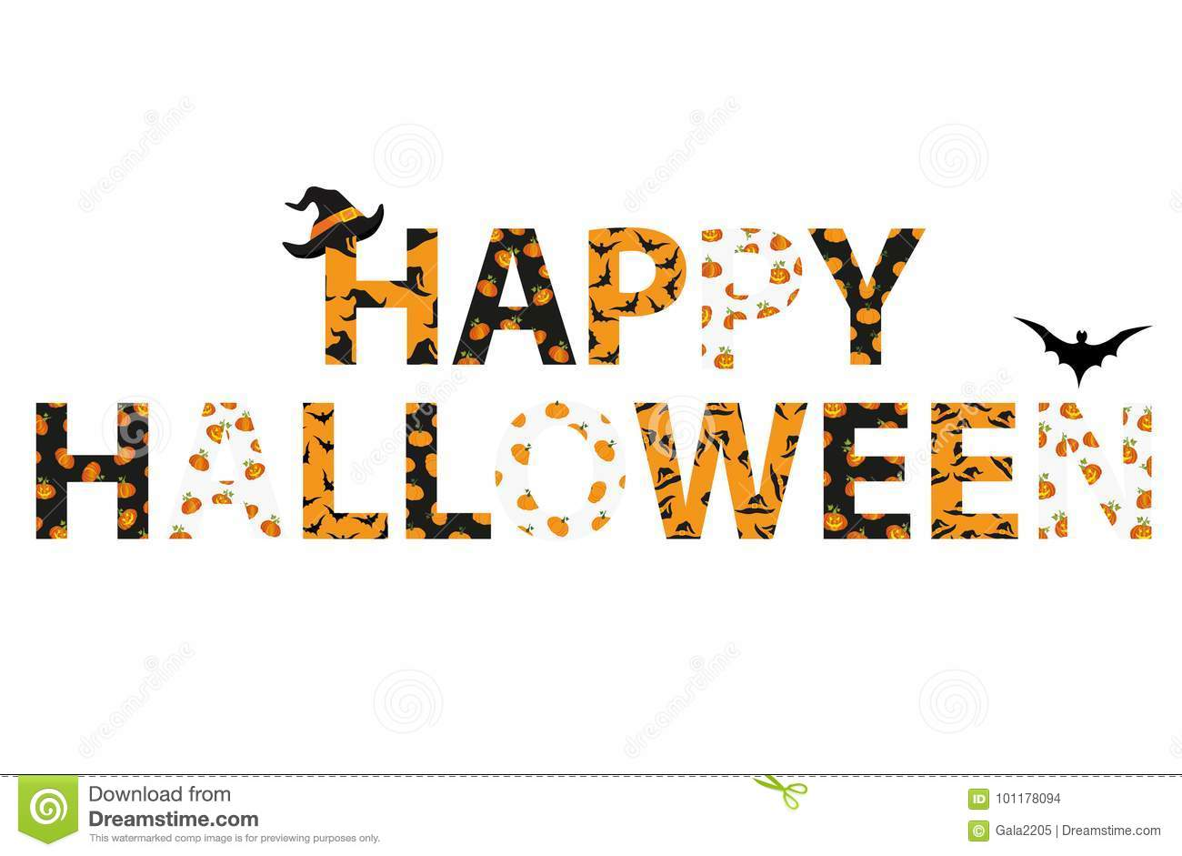 happy halloween lettering vector words for invitations stock