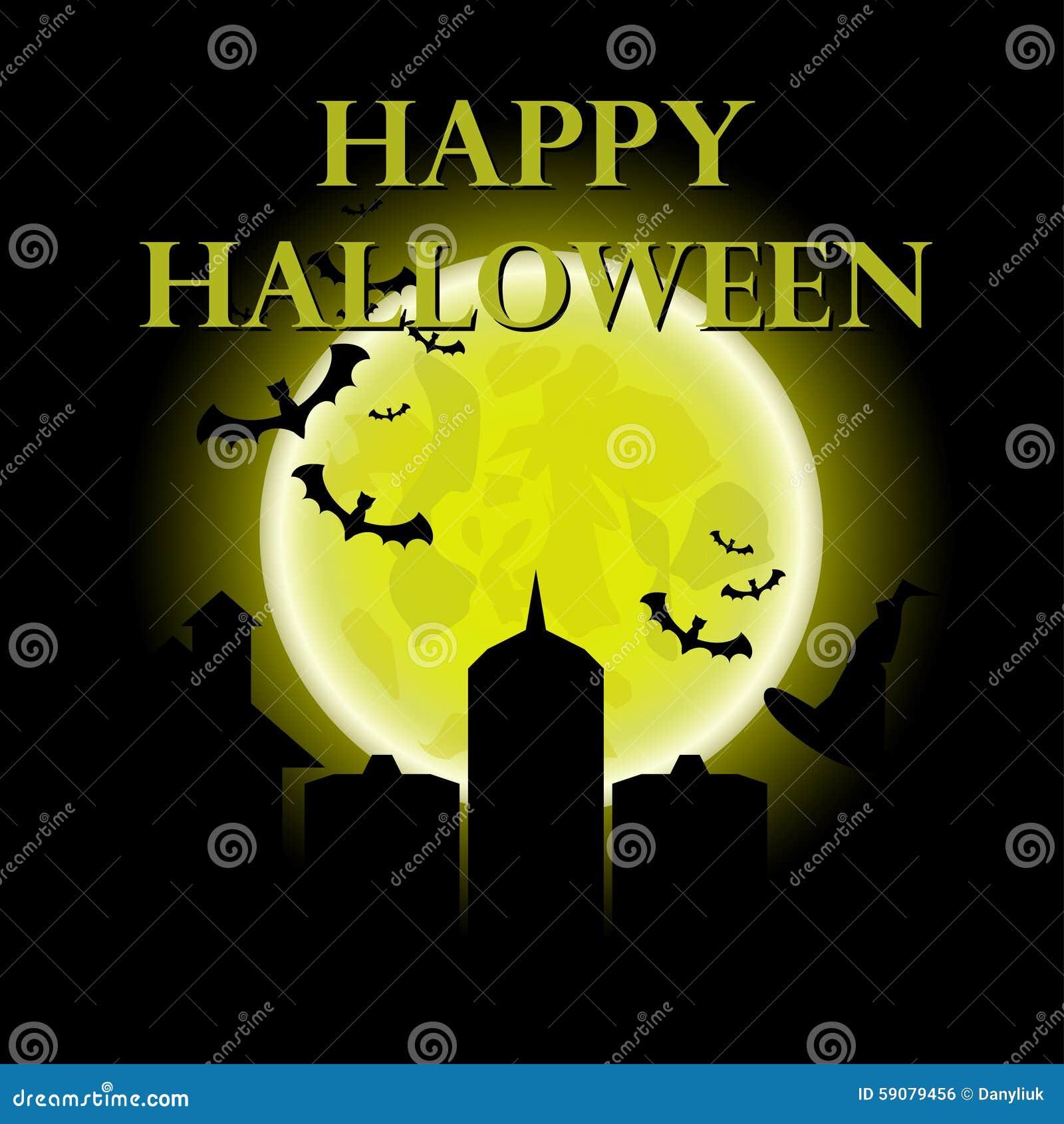 happy halloween message design background, illustration.halloween