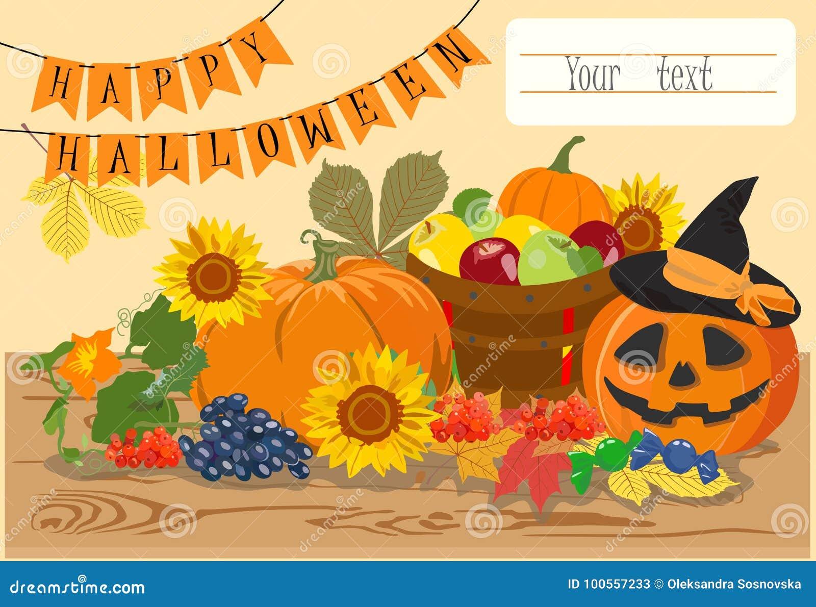 Happy halloween message design background vector illustration stock happy halloween message design background vector illustration m4hsunfo