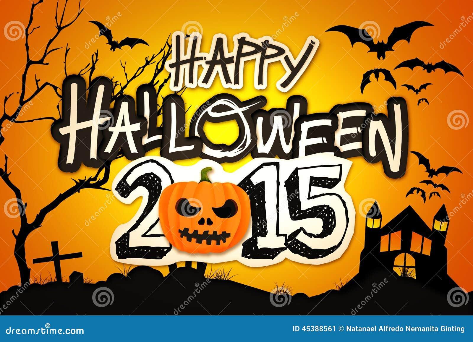... Orange Pumpkin Night Graveyard Stock Illustration - Image: 45388561