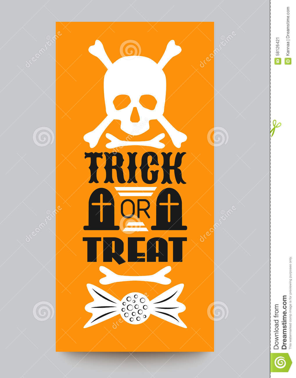 Happy Halloween Party Card. Typography Letters Illustration ...