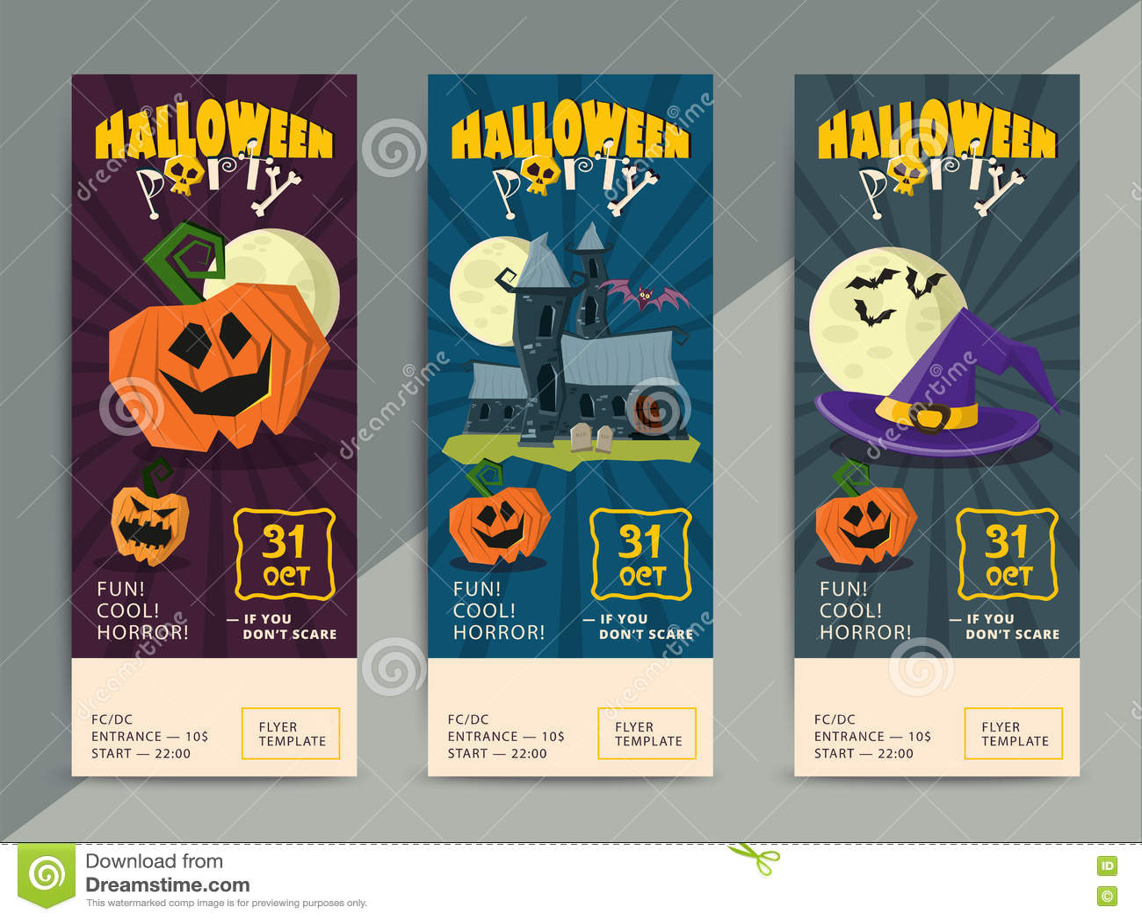 happy halloween party flyer template design stock vector image happy halloween party flyer template design