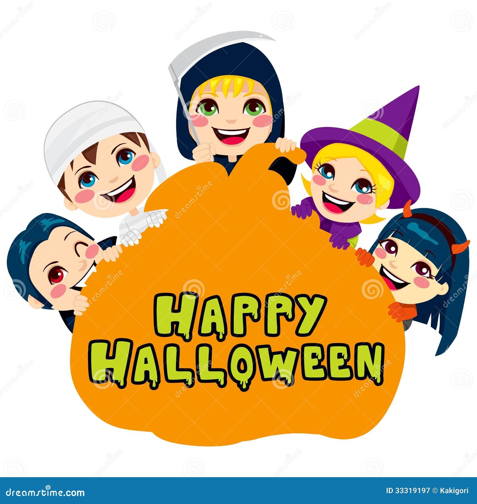 Happy Halloween Pumpkin Kids Stock Vector - Illustration ...