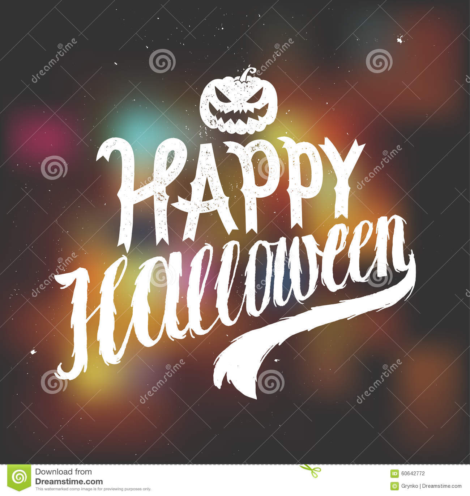 background calligraphy halloween happy scary